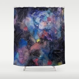 constellations sky with colors Shower Curtain