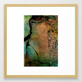 IN HER SKIN DARK Framed Art Print