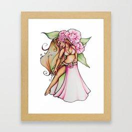 Pink Floral Belly Dancer Framed Art Print