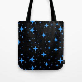 Bright Blue  Stars in Space Tote Bag