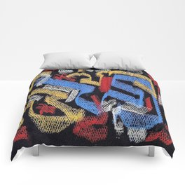 Abstract pastel multicolor Comforters