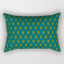 Hops Dark Cyan Pattern Rectangular Pillow