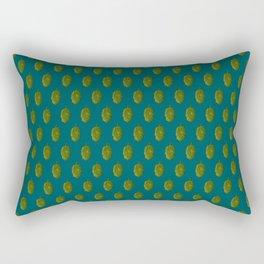 Hops Dark Cyan Pattern Rectangular Pillow