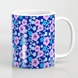 Plum Blossoms colorful Japanese floral pattern Coffee Mug