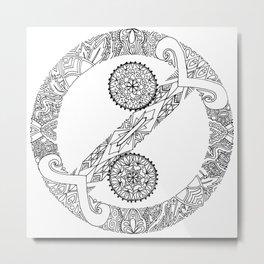 """No Colon"" Symbol Metal Print"