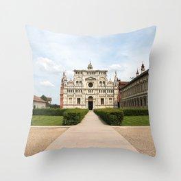 Certosa di Pavia Throw Pillow