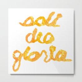 SOLI GOLD- SDG Metal Print