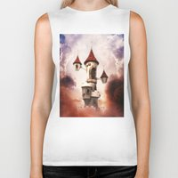 castle in the sky Biker Tanks featuring Castle in the Sky by Heidy Curbelo