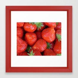 Juicy Strawberries Framed Art Print