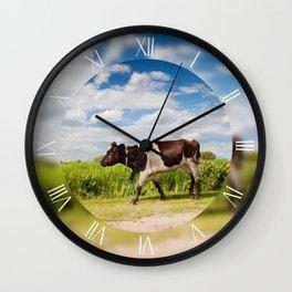 Calf walking alone Wall Clock
