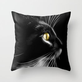 Portrait of a cool cat Throw Pillow