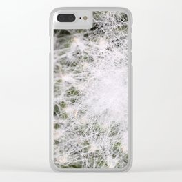 Sempervivum Spiderweb Clear iPhone Case