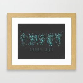 All the Censored Saints  Framed Art Print