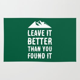 Leave It Better Than You Found It - Mountain Edition Rug