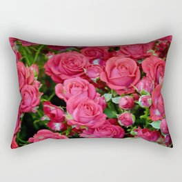 Bright red roses Rectangular Pillow