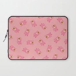 Lucky Cat Patern in Bubblegum Pink Laptop Sleeve