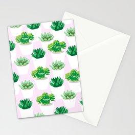Succulent Botanical Pattern-- Botanical/ Plant & Floral series Stationery Cards