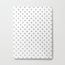 Black on White Snowflakes Metal Print