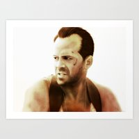 die hard Art Prints featuring Die Hard by Alexia Rose