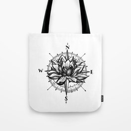 Lotus Compass Tote Bag