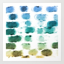 On the Beach Watercolor Painting Abstraction Art Print