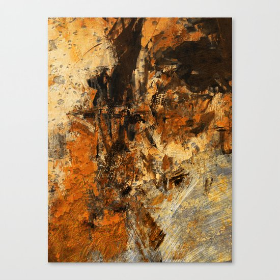 Ocher Wall Canvas Print