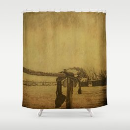 Saddle On The Hitching Post Shower Curtain