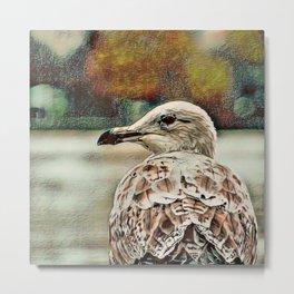 Toony Seagull Metal Print