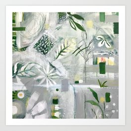 green_pattern Art Print