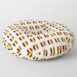 Flag of belgium with soft square Floor Pillow