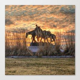 Memorial to the Pioneer Mothers - Kansas City Missouri Sunset Canvas Print