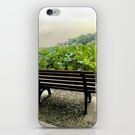 Seat by the lake and lotus iPhone Skin
