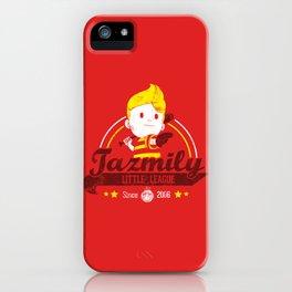 Tazmily little league iPhone Case