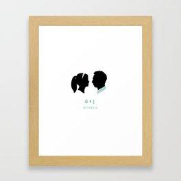 eryn + Jason print option 2 Framed Art Print
