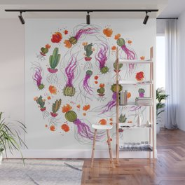 Cactus Bloom Wall Mural