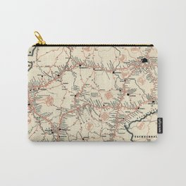 ADAC Autobahn-Karte. 1950 Vintage Map of Autobahn in Germany. Carry-All Pouch