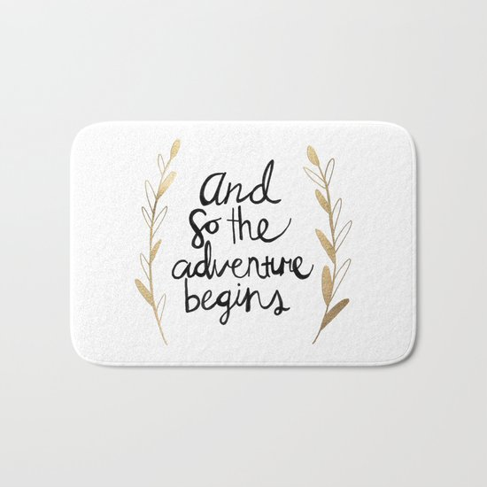 The Adventure Begins Bath Mat