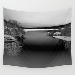 Then There is Cold... in Black and White Wall Tapestry