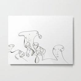 Wall Wave by Jordan E. Eismont Metal Print