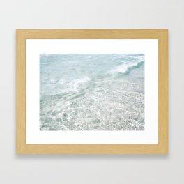 Translucent Waves Framed Art Print