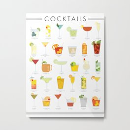 Cocktail Poster Metal Print