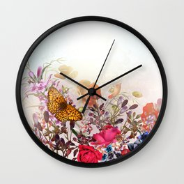 Meadow flowers. Shiny happy morning Wall Clock