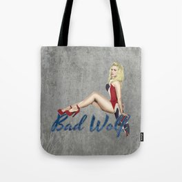 Blonde in a Union Jack...A specific one Tote Bag