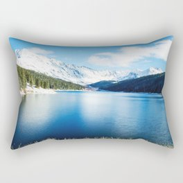 Clinton Gulch // Day Light Mountain Lake Forest Snow Peak Landscape Photography Hiking Decor Rectangular Pillow