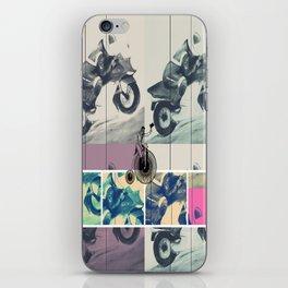 Painting, Illustration, Graphic Design, collage, motorbike iPhone Skin