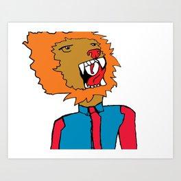 lion color Art Print