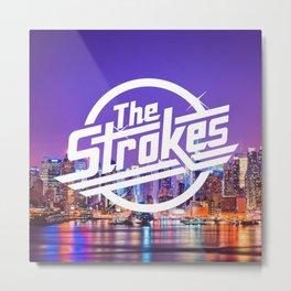 The Strokes Logo New York Night Metal Print