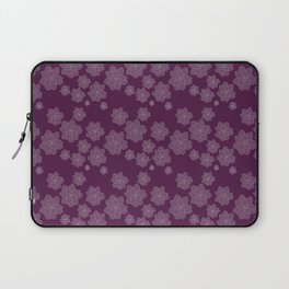 Magenta Succulent Rosettes Organic Pattern - Floral Line Drawing Laptop Sleeve