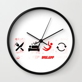 Base Jumping Jump Parachuting Sky Diving Fly Gift  Wall Clock