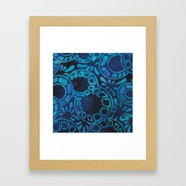 Blue Batik 09 Framed Art Print